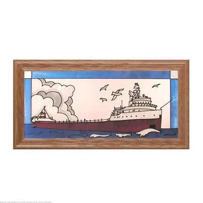 Edmund Fitzgerald Painted Glass Panel C-069
