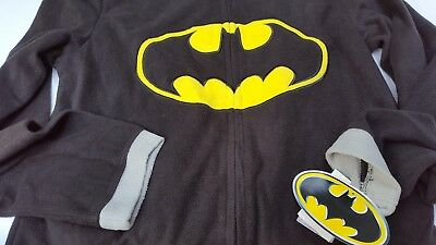 Batman DC Comics Sleepwear Pajamas Costume PJS One Piece Fleece Men Cape TM  S