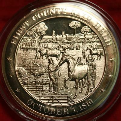 Uncirculated Franklin Mint .999 Bronze 1oz Round First County Fair Free S/H