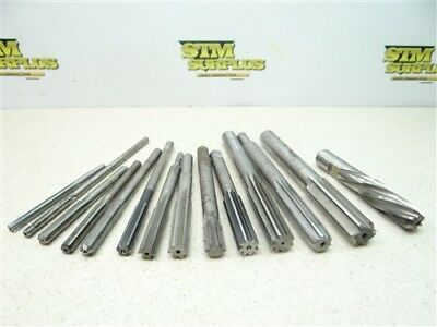 "Lot Of 14 Hss Assorted Chucking Reamers 15/64"" To 3/4"" L&i Ampco Morse"