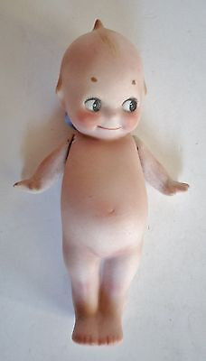 "Antique Kewpie Doll Germany Bisque Blue Wings 4 1/2"" Rosie O'Neill"