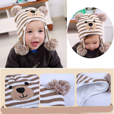 Trendy Winter Baby Beanie Hat Cap Warm Cute Kids Boys Girls Toddler Knitted