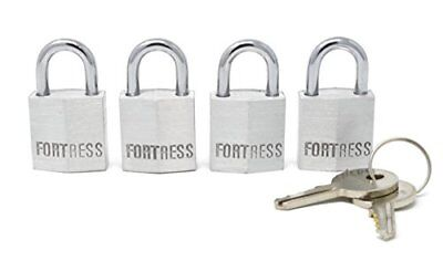 "Master Lock 1820Q 3/4"" Wide Solid Body Padlock Keyed Alike; 4 Pack New"
