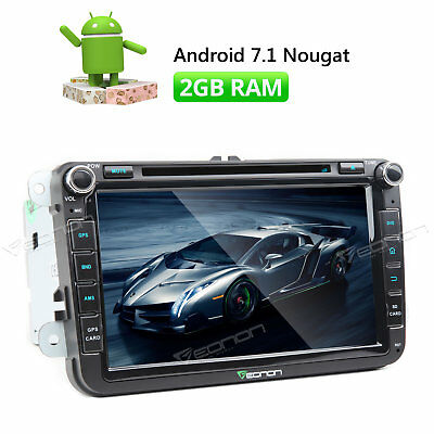 Android 7.1 Car Radio DVD GPS for VW Skoda Seat Navigation WIFI HDMI Touch