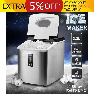 3.2L Home Portable Cube Ice Maker Machine w/ LCD Control Panel Easy Auto Snow SL