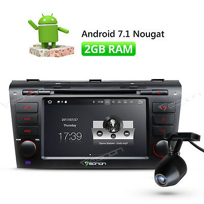 """DVR 7""""HD Android 7.1 Car DVD GPS for Mazda 3 Bluetooth Navigation In Dash Stereo"""