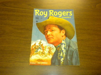 ROY ROGERS #38 - Dell Comics - MOVIE/TV WESTERN - 1951