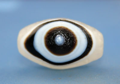 33*21 mm Antique  Dzi  Agate old 1 eyes  Bead  from Tibet ***Free shipping***