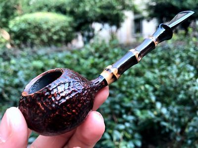 Road Town pipe,Briar wood Small Tomato Bamboo Style---- unsmoked