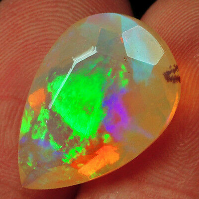 5CT 100% Natural Ethiopian Welo Opal Faceted Cut Play Of Color QOL8429