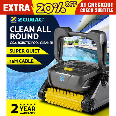Zodiac CX20 Robotic Pool Cleaner Swimming Floor Climb Wall Automatic Barracuda