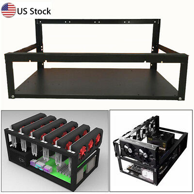 Iron Stackable Mining Case Rig Open Air Minner Frame For 6GPU ETH BTC Ethereum