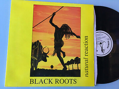 LP   UK 1990 MINT  Black Roots ‎– Natural Reaction Label: Nubian Records ‎– NRLP