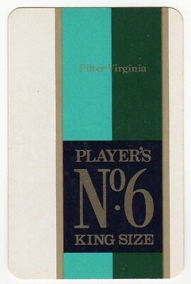 Playing Cards 1 Swap Card Old Vintage PLAYERS No.6 Cigarettes SMOKING Tobacco 3