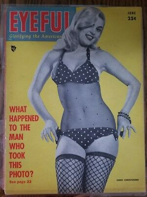 Vintage 1950s Lot of 2 Pinup Magazines Eyeful and PIC