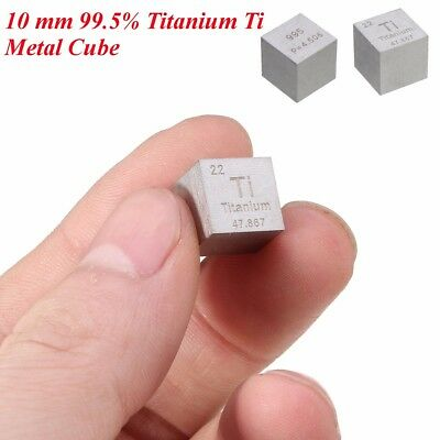 99.5% High Purity Titanium Ti Metal Carved Element Periodic Table 10mm Cube New