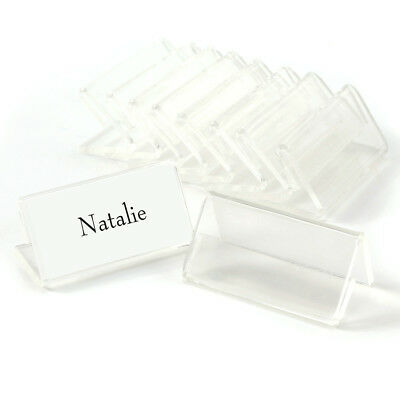 50 Office School Meeting Acrylic Sign Display Holder Price Name Card Label Stand