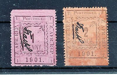 South  Africa  1901  Pietersburg  Local  Issue  2  Stamps