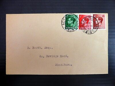 GB 1936 Ed.VIII RARE Abdication Day Cover with Blackbird CDS AH415