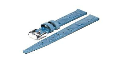 Chris Benz Leather Strap For One Lady 200m 14 mm Caribbean Blue
