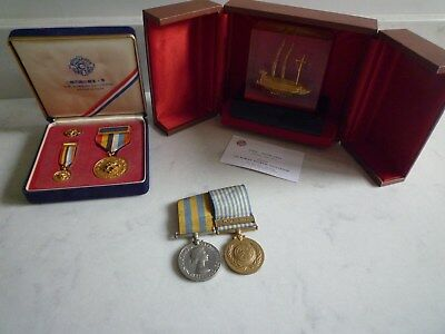 Genuine Korean War Medals And Rare Veterans Assoc Presented Awards Group