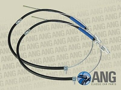 MORRIS MINOR 1000 SALOON, TRAVELLER REAR HANDBRAKE CABLES x 2 (ACG5285)