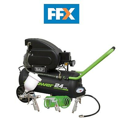 Sealey SAC2420EPK Compressor 24ltr Direct Drive 2hp with 4pc Air Accessory Kit