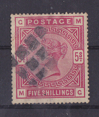 GREAT BRITAIN 1883-1884 QV Used 5/- Rose Red GM SG #180 CV £225