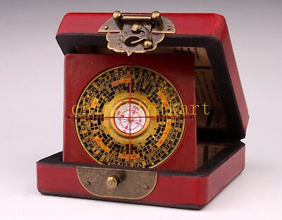 Red Leather Gift Box Longfeng Pattern + Compass Collection