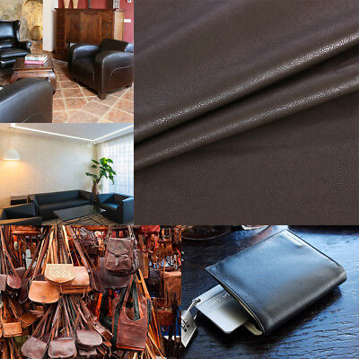 Leatherette Faux Leather Cloth Upholstery Fabric Material Sewing Black Brown