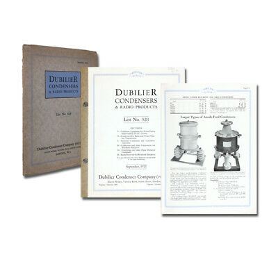 Dubilier Condensers & Radio Products. List 928. 1928