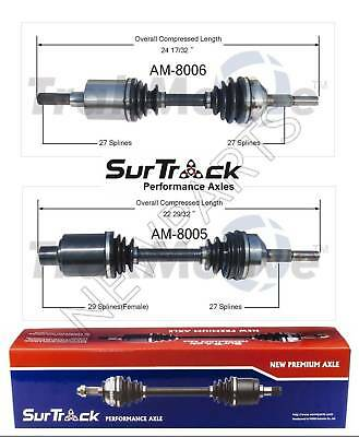 Jeep Liberty 4WD 2002-2006 3.7L V6 Pair of Front CV Axle Shafts SurTrack Set