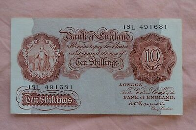Bank of England Ten Shilling 10/- Banknotes PEPPIATT 18L 491681 bit dirty, sadly