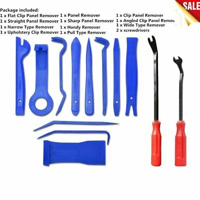 13pcs Trim Removal Tool Set Hand Tools Pry Bar Panel Door Interior Clip CUG