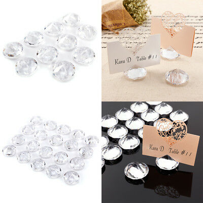 10/20 Acrylic Diamond Wedding Table Number Place Name MEMO Card Stand Holder AU