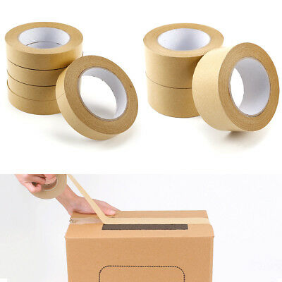 50M Professional Picture Frame Backing Tape Self Adhesive Kraft Paper Tape Seal