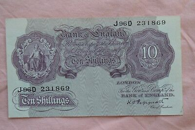 Bank of England Ten Shilling 10/- Banknotes PEPPIATT J96D 231869 oddly clean!?
