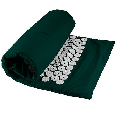 Green Massage Acupressure Mat Yoga  Sit Lying Mat Cut Pain Stress Soreness