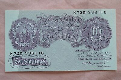 Bank of England Ten Shilling 10/- Banknotes PEPPIATT K72D 338116 very nice but??