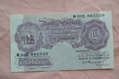 Bank of England Ten Shilling 10/- Banknotes PEPPIATT W83D 865559 circulated??