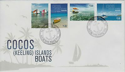 Cocos(Keeling) Islands 2011 BOATS  set stamps  First Day cover