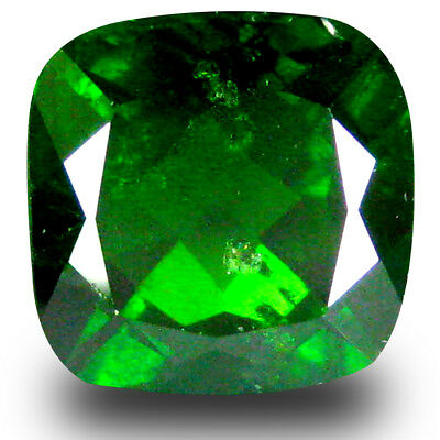 4.20 ct  Excellent Cushion Shape (9 x 9 mm) Green Chrome Diopside Gemstone