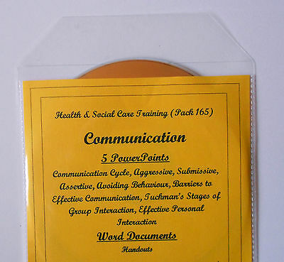 EFFECTIVE COMMUNICATION AWARENESS Health and Social Care Teaching Resources CD