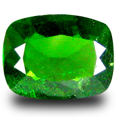 1.21 ct  Grand looking Cushion Shape (8 x 6 mm) Green Chrome Diopside Gemstone