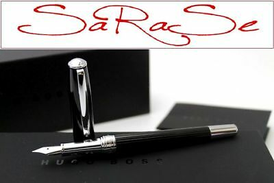 Hugo Boss Essential Füller Fountain Pen Edelharz Und Chrom Poliert Neu