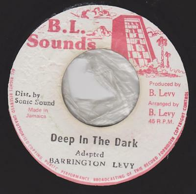 BARRINGTON LEVY Deep in the dark / Version B.L.sounds Rare Jamaican reggae hear
