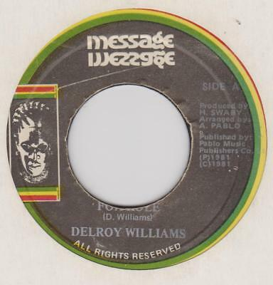 DELROY WILLIAMS Fox hole / Son of man dub Message Rare Jamaican reggae 45 *hear*