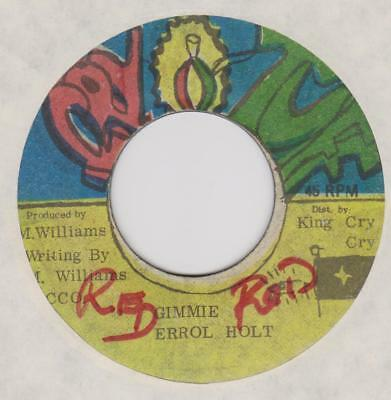 ERROL HOLT Gimmie / PRINCE ROCK version Cry tuff Rare Jamaican reggae 45 *hear*