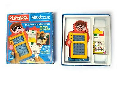 Vintage 1982 PLAYSKOOL MAXIMUS Educational Computer game GWO Boxed + 8 Cards