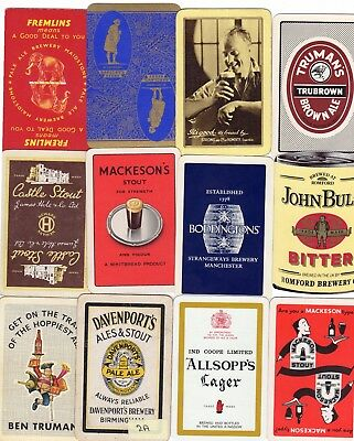 "12 Different VINTAGE ""British Brewery"" SINGLE Playing Cards"